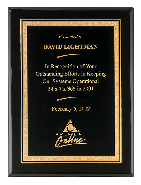 Black Piano Finish Plaque