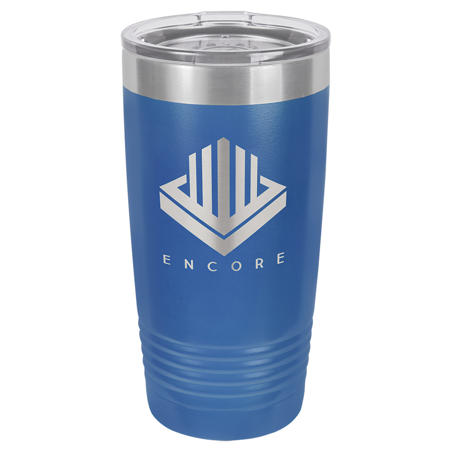 Blue Stainless Steel Tumbler