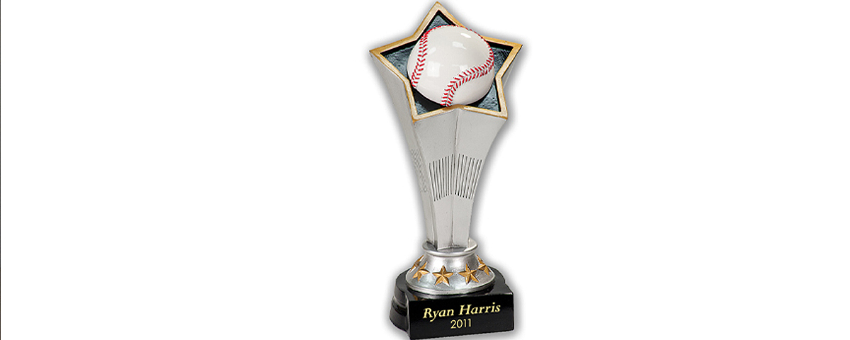 Baseball resin award.