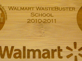 Laser engraved 8 in. x 10 in. bamboo plaque.