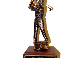 17 in. tall golf trophy.